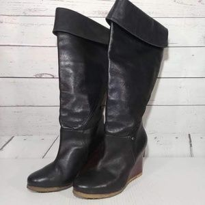 Ugg Raveena Knee High Fold Over Wedge Boots sz 8
